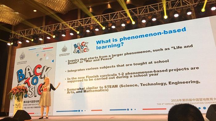 Luovaope-hankkeen esitys kongressissa Shenzhenissä Kiinassa