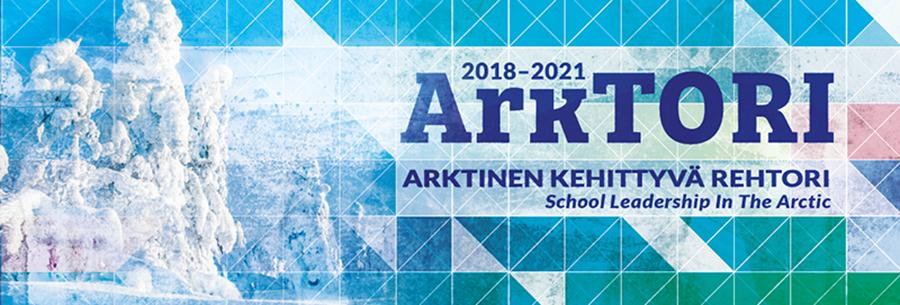 ArkTORI - Arktinen kehittyvä rehtori -hankkeen bannerikuva.